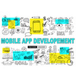 Mobile app development with doodle design style