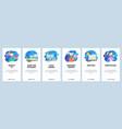 mobile app onboarding screens cinema reading vector image vector image