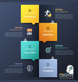 modern infographic design template - 4 lettered vector image vector image