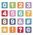 number icons vector image vector image