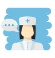 nurse avatar vector image vector image