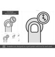 One-finger tap and hold line icon vector image vector image
