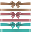 pastel color bows set vector image vector image