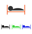 patient bed flat icon vector image vector image