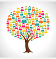 people tree concept for community teamwork vector image