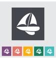 Pleasure boat vector image vector image