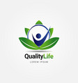 quality life healthcare logo sign symbol icon vector image