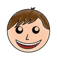 scribble man face cartoon vector image vector image