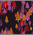 seamless pattern of colorful forest vector image vector image