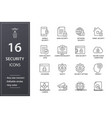 security line icons set black vector image vector image
