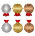 set award medals vector image vector image