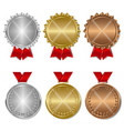 set of award medals vector image