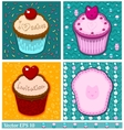 Set of cake cards template vector image vector image