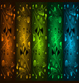set of precious patterns from metallic green vector image vector image