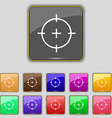 sight icon sign Set with eleven colored buttons vector image vector image