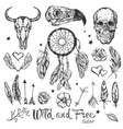 Skull Tattoo Icon Set vector image vector image