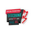 special promotion discount offer 50 percent lower vector image