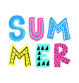 summer card vector image vector image