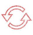 sync arrows fabric textured icon vector image vector image