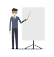 teacher design exposing vector image