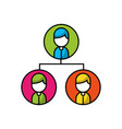 teamwork people avatars network vector image