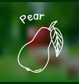 thin line pear icon vector image vector image
