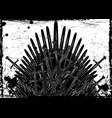thrones fantasy concept hand drawn iron throne vector image