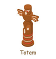 totem icon isometric 3d style vector image vector image