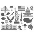 Traditional symbols of the USA vector image