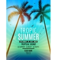 tropic summer beach party summer vacation vector image vector image