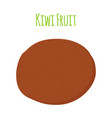 tropical fruit exotic kiwi cartoon flat style vector image vector image