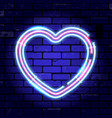 valentines day neon signboard vector image vector image
