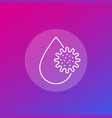 virus and water drop icon line vector image