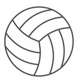 volleyball ball thin line icon sport equipment vector image
