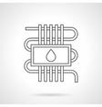 Water underfloor heating flat line icon vector image vector image