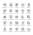 web and seo line icons set vector image