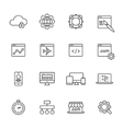 Web Development Line Icons vector image