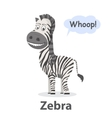 Zebra illistration vector image