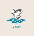 angry shark icon vector image