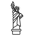 liberty statue new york line icon sign vector image
