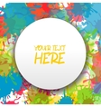 splash paint ink abstract backdrop vector image