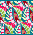 bright seamless pattern in boho style vector image