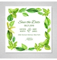 Invitation to the wedding Frame of watercolor vector image
