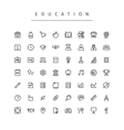 Education Stroke Icons Set vector image