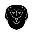 lion head icon sign o vector image