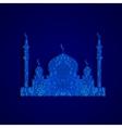 silhouette Arab temple vector image