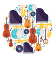 background with musical instruments jazz music
