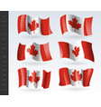 3d waving flag canada isolated on white vector image vector image