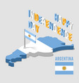 argentina independence day argentina isometric vector image