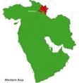 Azerbaijan map vector image vector image